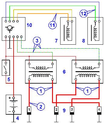 Схема DIS системы зажигания.